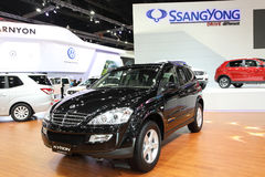 Ssangyong  Kyron car on display Stock Image