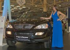 SsangYong Kyron car model presentation Royalty Free Stock Photos