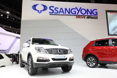 Ssangyong  Rexton car on display Stock Photography