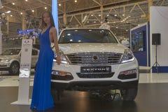 SsangYong Rexton car model presentation Stock Photos