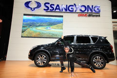 Ssangyong Rexton with unidentified model. NONTHABURI-DEC 08: Ssangyong Rexton with unidentified model in the 29th Motor Expo on December 08, 2012 in Nonthaburi Stock Image