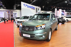 Ssangyong  Stavic car on display Royalty Free Stock Photo