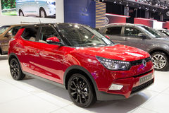 Ssangyong Tivoli la nuova automobile di SUV dell'incrocio 4x4 Immagini Stock Libere da Diritti
