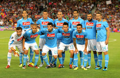 SSC Napoli team posing Royalty Free Stock Photos