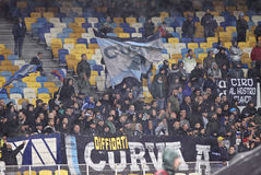 SSC Napoli ultras (ultra supporters) Stock Images