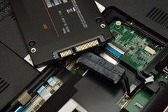 SSD и компьтер-книжка Стоковые Фото