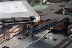 SSD e computer portatile Fotografia Stock Libera da Diritti