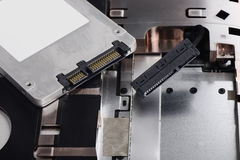 SSD e computer portatile Immagine Stock Libera da Diritti