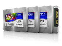 Ssd hard drives Royalty Free Stock Image