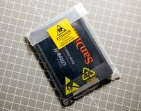 SSD il SanDisk nuovo per aggiornamento del computer Fotografia Stock Libera da Diritti