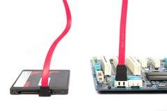SSD-Platte sata Anschluss Stockfotos