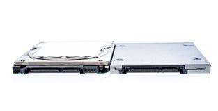 SSD semi conduttore dell'azionamento accanto a 2,5 Fotografia Stock