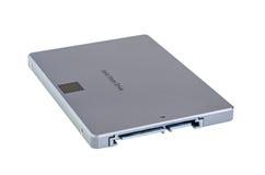 SSD semi conduttore dell'azionamento isolato su bianco Fotografie Stock Libere da Diritti
