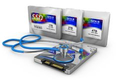 Ssd and stethoscope Royalty Free Stock Photography