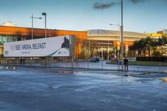 SSE-Arena das Hafenviertel Belfast Lizenzfreies Stockbild