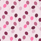 Sseamless pattern of multi-colored balloons. Seamless pattern of multi-colored balloons on a colored background Stock Images