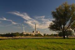 Sseldorf Германия ¼ Kraftwerk Lausward DÃ Стоковые Фото