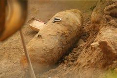 Sseldorf Германия ¼ взрывателя бомбы DÃ Второй Мировой Войны Стоковые Изображения RF