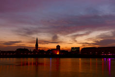 Sseldorf do ¼ de DÃ no nascer do sol Fotos de Stock