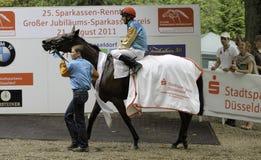 sseldorf ważnego dnia Germany biegowy sparkasse sseldorf Zdjęcia Royalty Free
