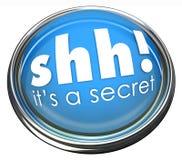 Ssh It's a Secret Words Button Light Confidential Information royalty free illustration