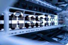 SSH, Zabezpiecza Shell protokół i oprogramowanie Dane ochrony, interneta i telekomunikaci pojęcie, Zdjęcie Stock
