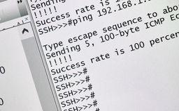 Ssh - zabezpiecza skorupę Obrazy Stock