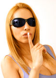 Sshh woman Royalty Free Stock Images