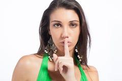 SsHhhh. Stock Photos