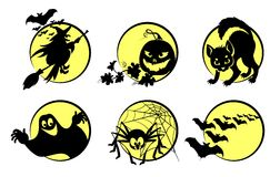Ssimbols de Halloween Imagem de Stock Royalty Free