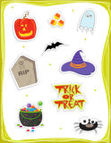 Ssimbols di Halloween Immagine Stock