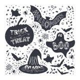 Ssimbols di Halloween Immagine Stock