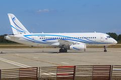 SSJ100. Kuala Lumpur/Malaysia Februar 10, 2015: gazpromavia SSJ100  landing at Kuala Lumpur Airport Royalty Free Stock Images