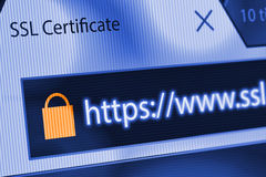 SSL Connection Royalty Free Stock Photography