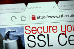 SSL Connection Stock Image