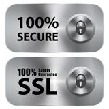 SSL 100% Safety Guarantee. SSL 100 Safety Guarantee, metal sign Stock Image