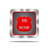 SSL secure button. Royalty Free Stock Image