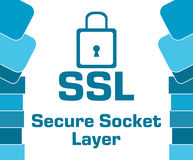 SSL - Secure Socket Layer Blue Abstract Shapes Square Royalty Free Stock Image
