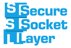 SSL - Secure Socket Layer Blue Abstract Stripes Stock Photo