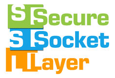 SSL - Secure Socket Layer Colorful Abstract Stripes Royalty Free Stock Photo