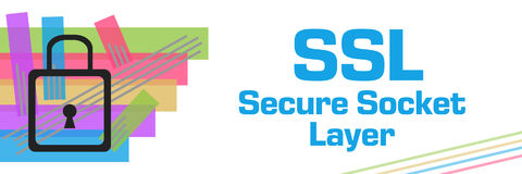SSL - Secure Socket Layer Colorful Stroked Stripes Stock Photography