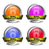 SSL secured icon set. Four SSL secured icons  on a white background Royalty Free Stock Photos