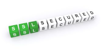 SSL secured sign Stock Photography