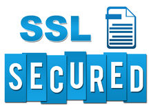 SSL - Secured Socket Layer Professional Blue With Symbol Stock Image