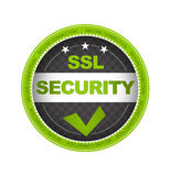 SSL Security. Green SSL Security Button on white background
