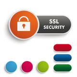SSL Security Black Orange PiAd Royalty Free Stock Photos