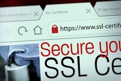 SSL-Verbindung stockbild