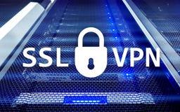 SSL VPN Faktiskt privat nätverk Kodad anslutning Royaltyfria Foton
