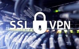 SSL VPN Virtuelles privates Netz Verschlüsselte Verbindung Lizenzfreies Stockfoto