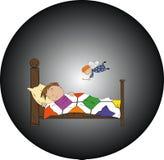 Ssleeping dziecko royalty ilustracja